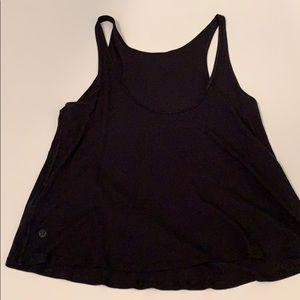 Lululemon black loose tank top